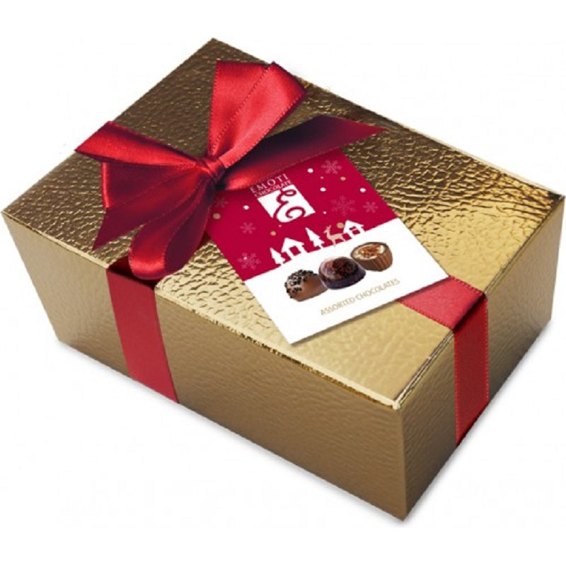 Assorted Chocolates Golden Box Christmas Pralines