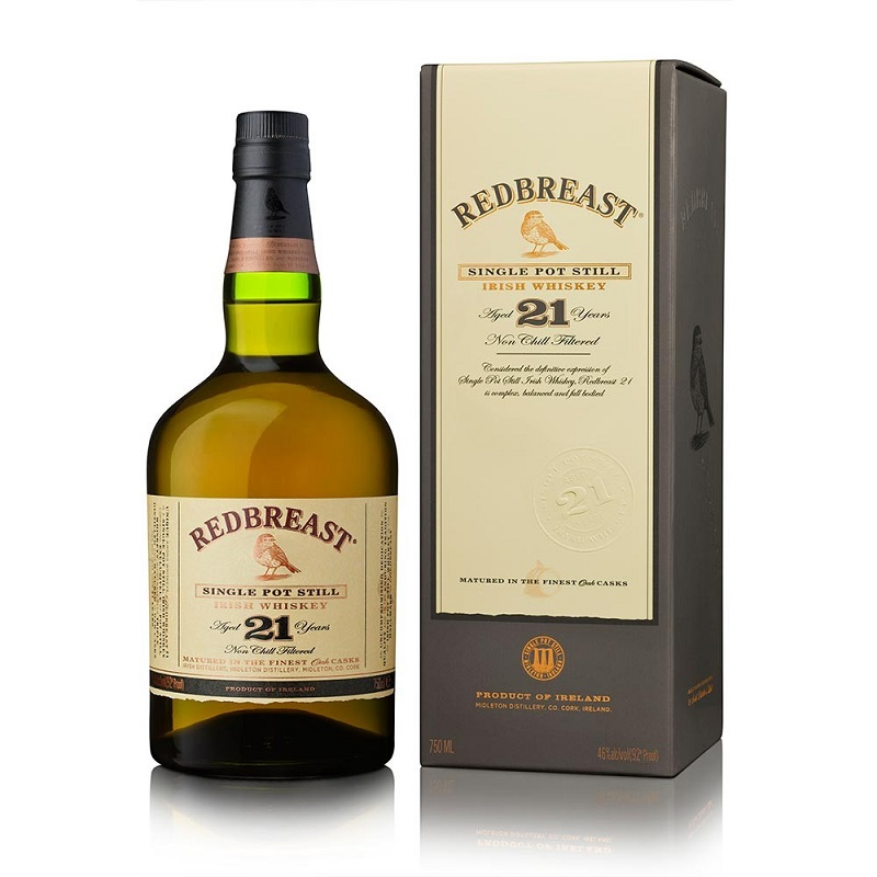RedBreast aged 21 years pure pot still Irish whiskey 0,7