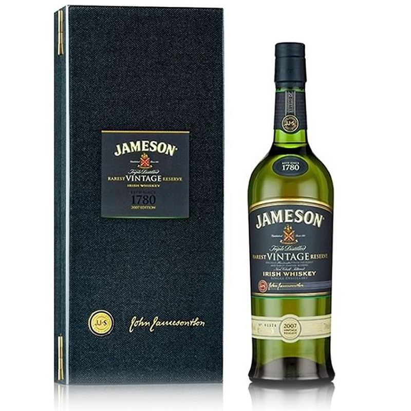 John Jameson Blended Irish Whiskey Rarest Vintage 2007 dárkové balení 0,7