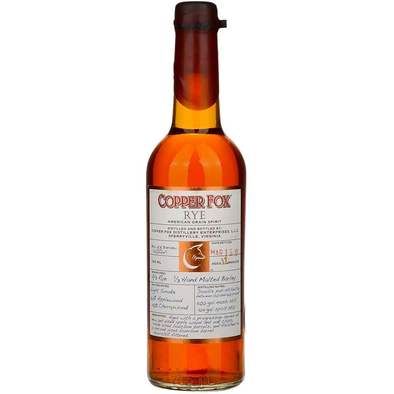 Copper Fox Rye American grain whiskey 0,7
