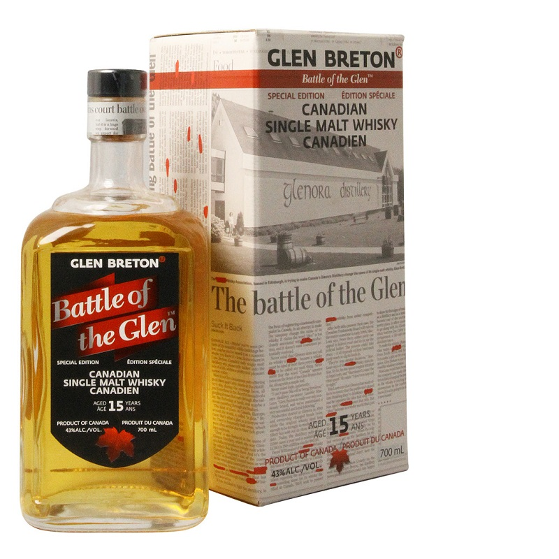 Glen Breton Battle of The Glen 15 yo Single malt Canadian whisky 0,7