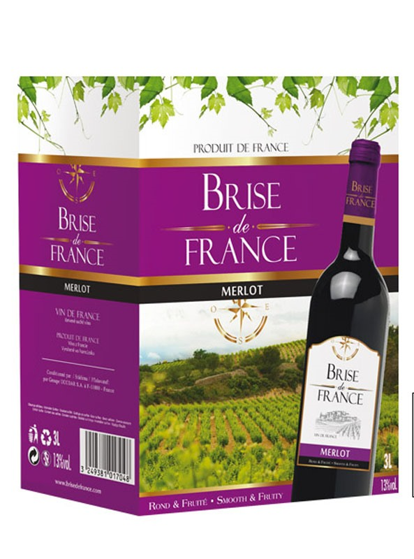 Brise de France Merlot z Francie Bag in Box 3l