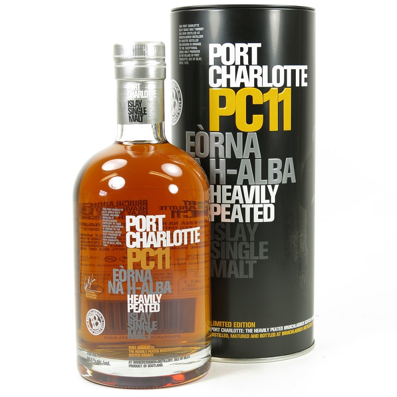 Whisky Port Charlotte PC11 Heavily Peated Islay Single Malt Scotch Whisky