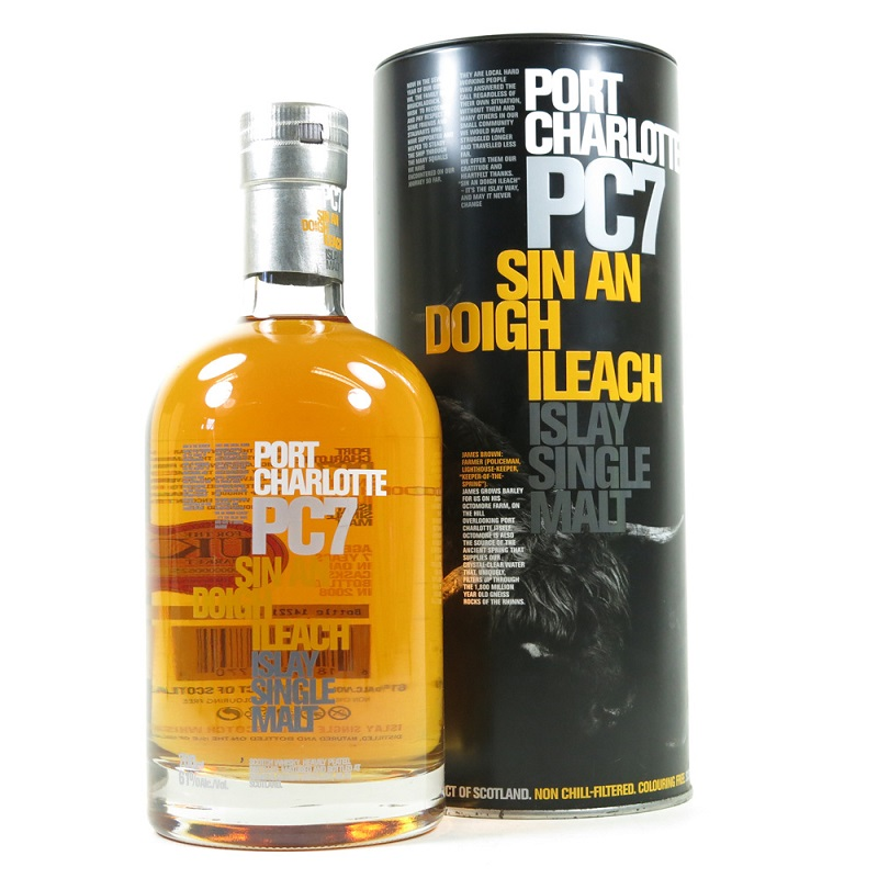 Port Charlotte PC7 Heavily Peated Islay Single Malt Scotch Whisky 0,7