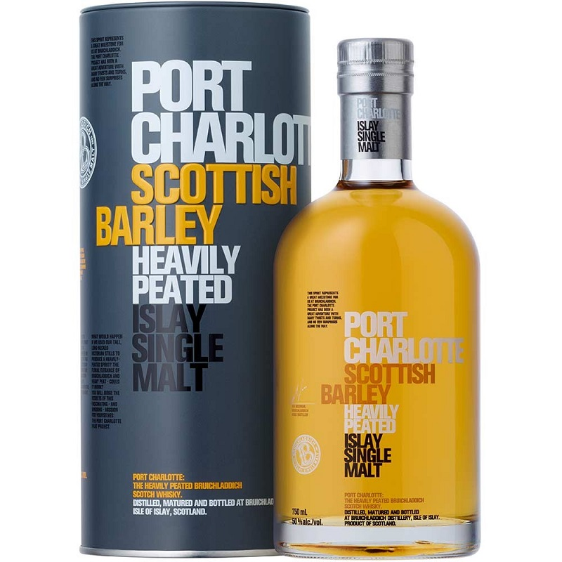 Port Charlotte Scottish Barley Heavily Peated Single malt Islay whisky 0,7