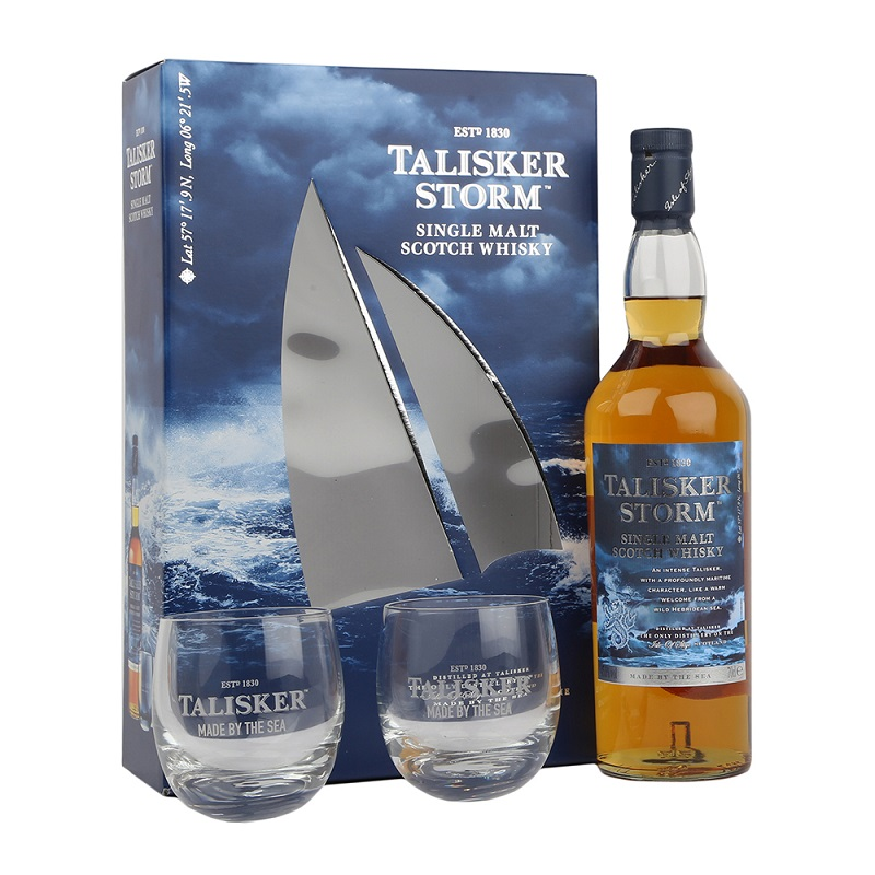 Talisker Storm 2 Glass Pack Scotch Whisky