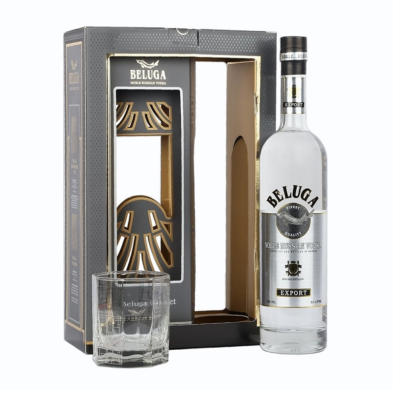 Beluga Glass Pack Noble vodka 1l