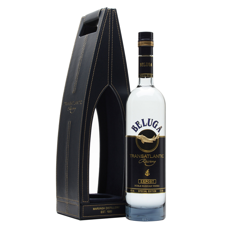 Beluga Transatlantic Racing Vodka Leather Gift Box 0,7