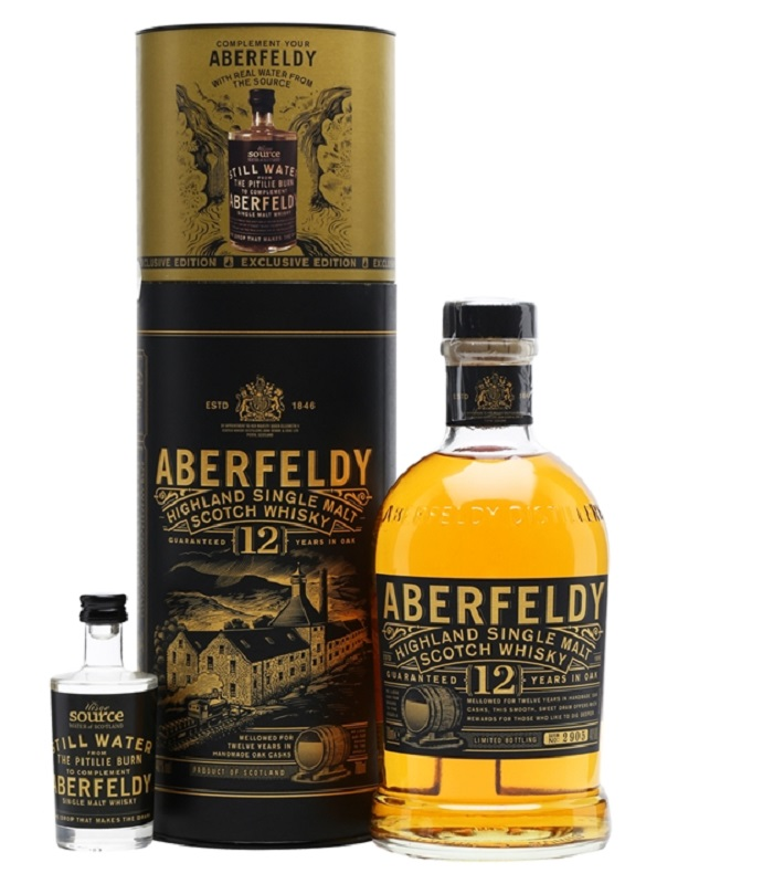 Aberfeldy 12 Year Old + Uisge Source Water Gift Pack