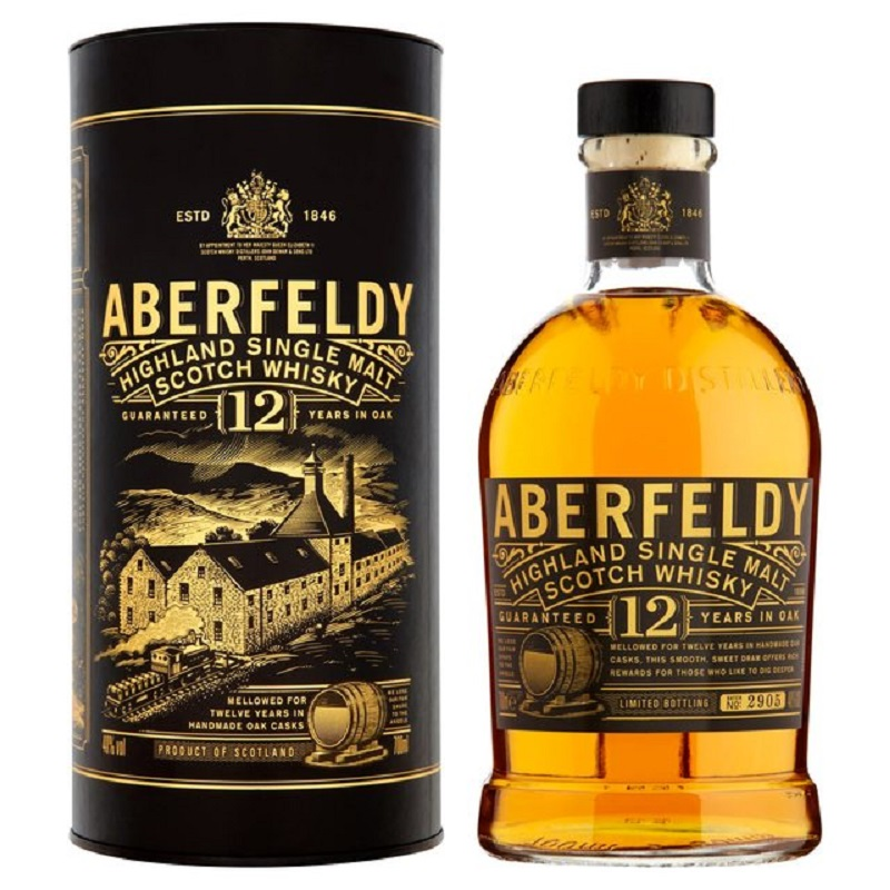 Aberfeldy Limited release 12 years single malt Highlands whisky 1l