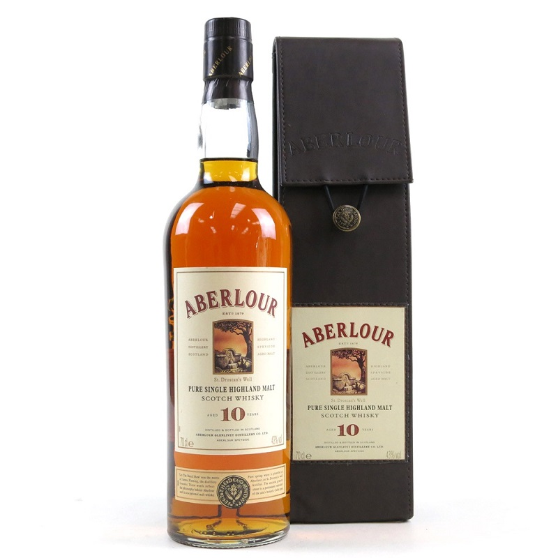 Aberlour 10 Year Old Leather Pack whisky 0,7