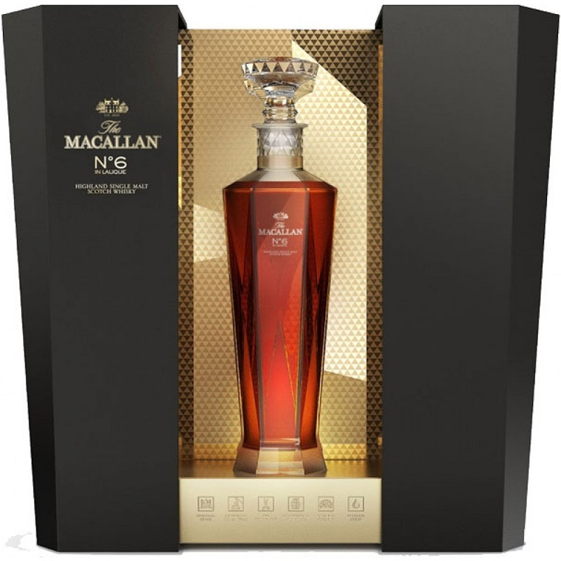 The Macallan No. 6 Highland Single Malt Scotch Whisky in Lalique
