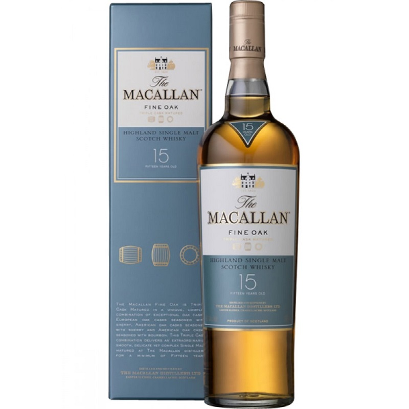 Macallan 15 Year Old Fine Oak Whisky