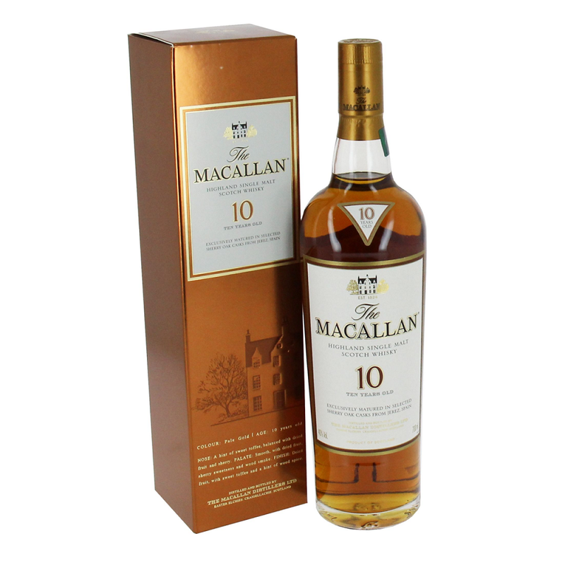Macallan 10 Year Old Sherry Oak Single Malt Scotch Whisky 0,7