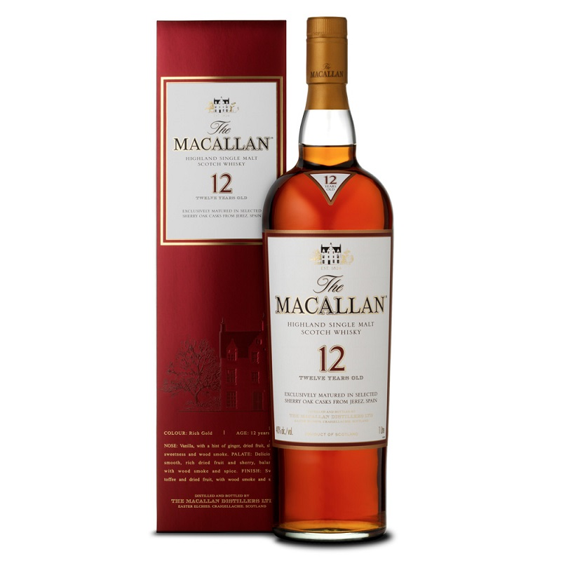 The Macallan 12 Year Old Sherry Oak Single Malt Scotch Whisky 0,7