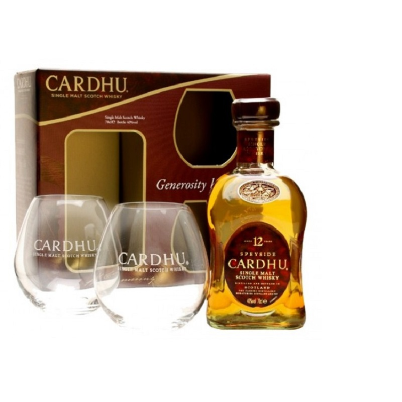 Cardhu 12yo 2 glass pack whisky 0,7