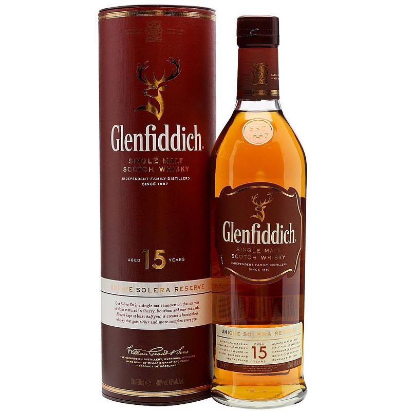 Glenfiddich 15 Unique Solera Reserve Single Malt Whisky 0,7
