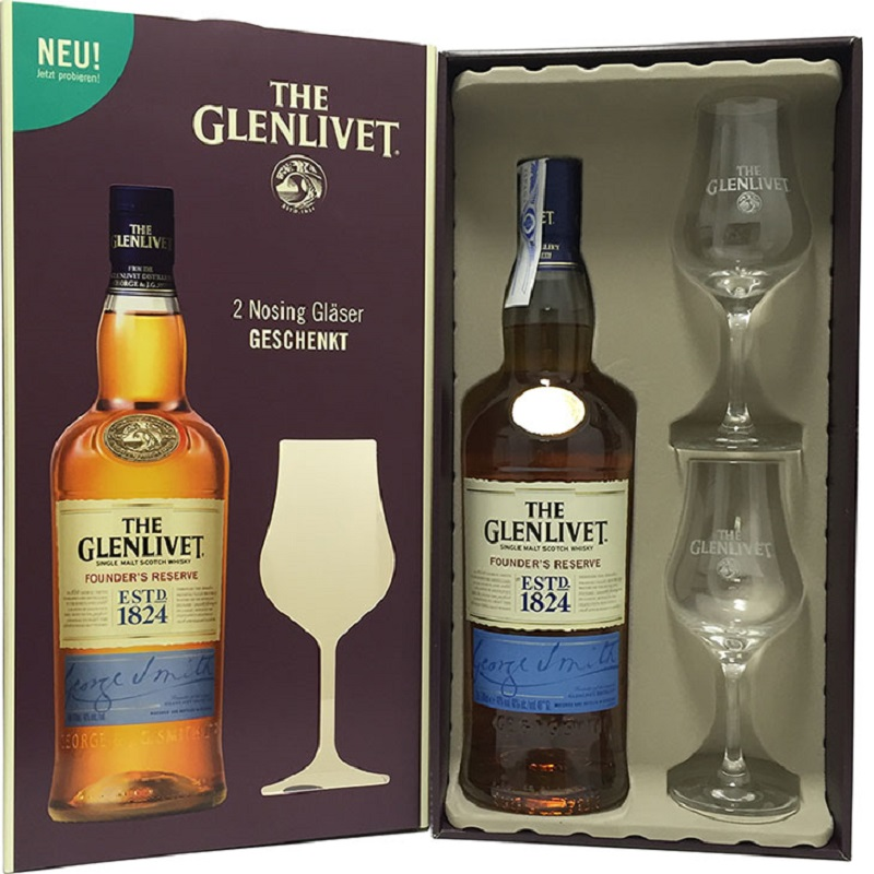 Glen Grant 12 Years Old 2 Glass Gift Pack