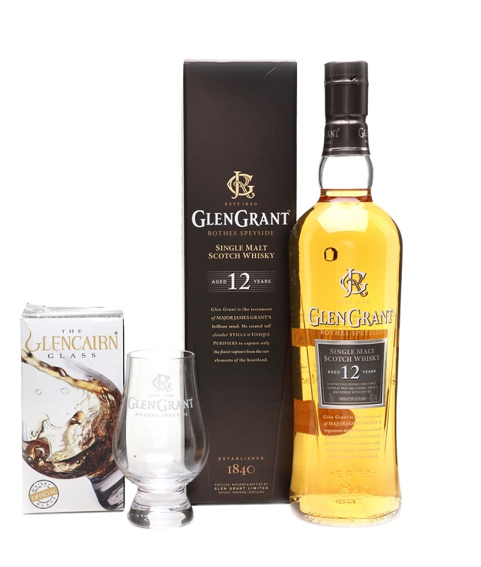 Glen Grant 12 Years Old 2 Glass Gift Pack whisky