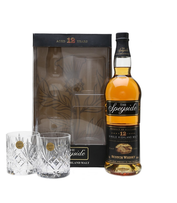 The Speyside 12 Year Old Glass Pack whisky