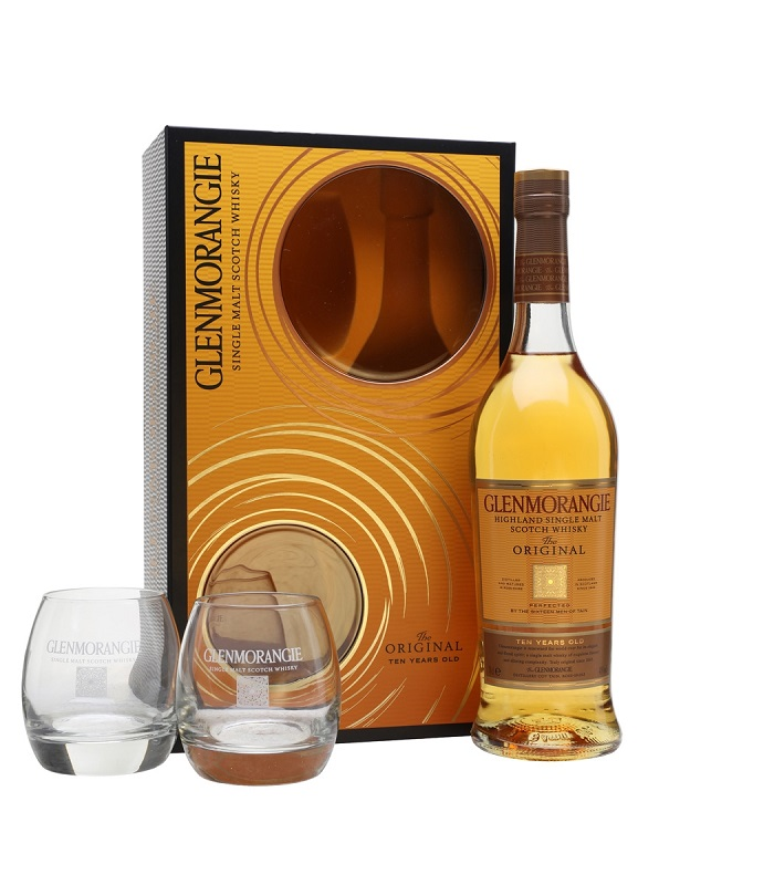Glenmorangie 10 Years Old Glass Gift Pack whisky 0,7