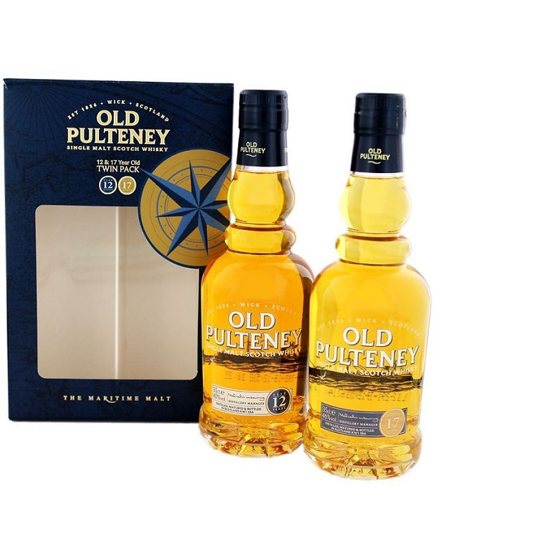 Old Pulteney Single Malt Scotch Whisky Gift Pack (2 x 35cl