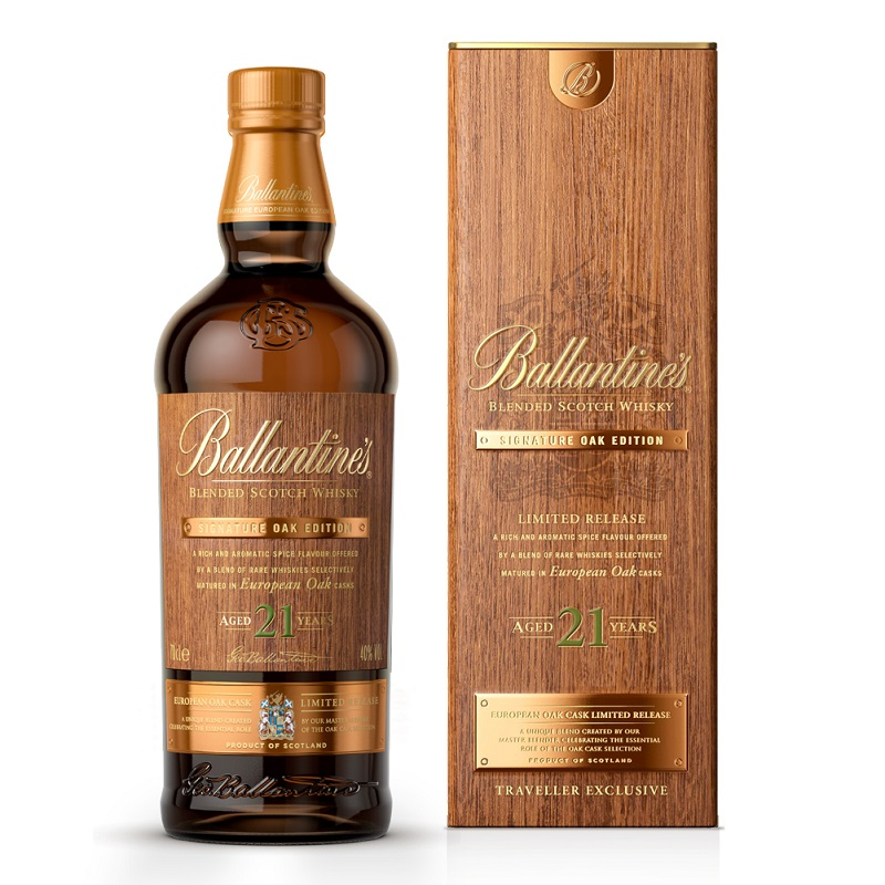 Ballantine's Signature Oak Edition 21 Year Old whisky 0,7