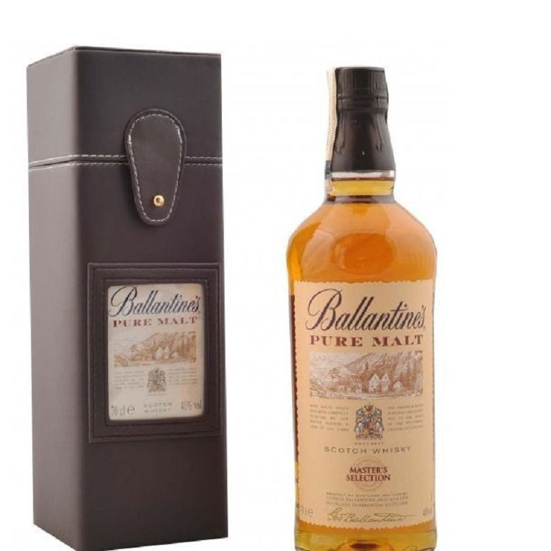 Ballantine's 12 Year Old Pure Malt whisky ledder box 0,7
