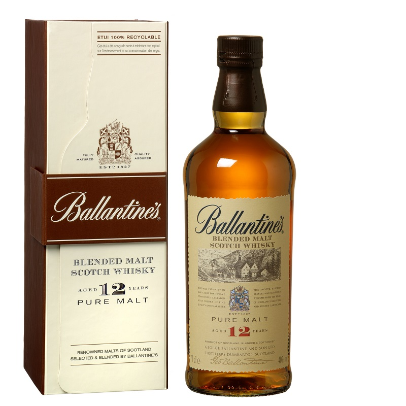 Ballantine's 12 Year Old Pure Malt whisky 0,7