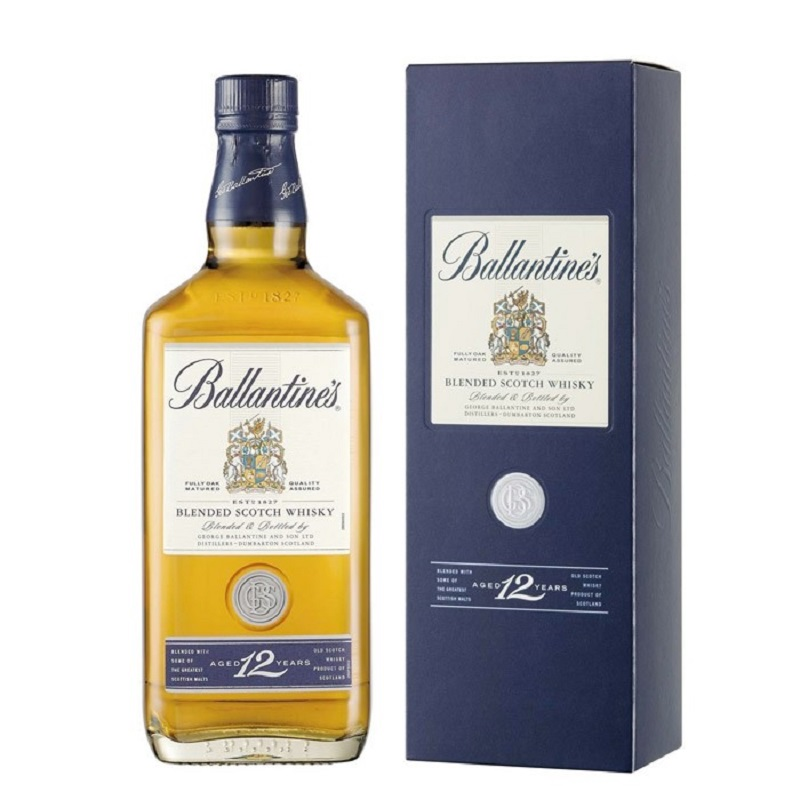 Ballantine's 12 Years Old Premium Blended Scotch whisky 1l