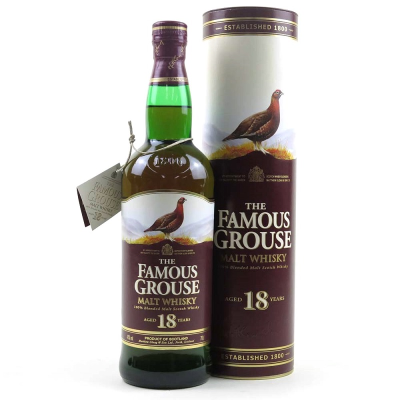 The Famous Grouse 18 Year Old Blended Malt Scotch Whisky