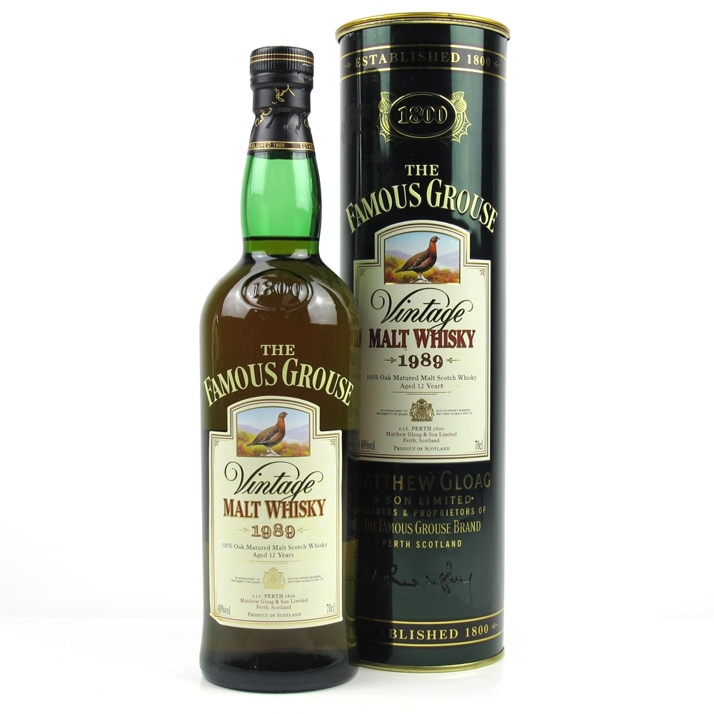 Famous Grouse 1989 Vintage malt whisky 0,7