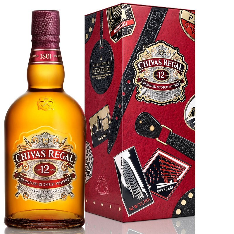 Chivas Regal 12YO Globe Trotter Whisky 0,7