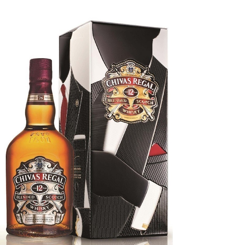 Chivas Regal 12 years old metal box 2015 Premium Scotch whisky