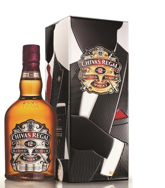 Chivas Regal 12 Years Old metal box Scotch whisky 0,7