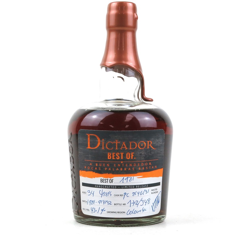 Dictador Best of 1981 Limited release 34 Year Old rum 0,7