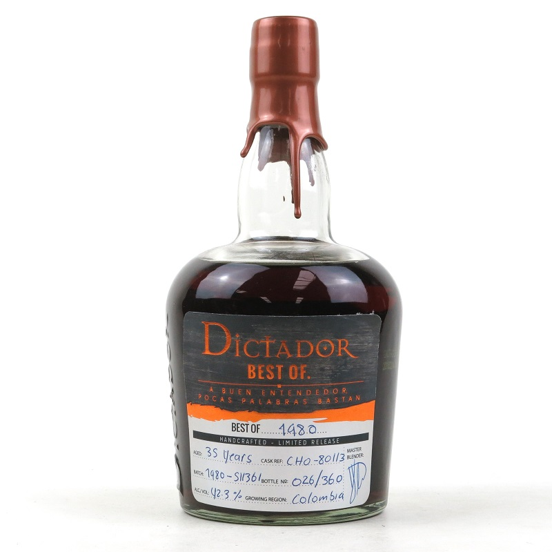 Dictador Best of 1980 Limited release 35 Year Old rum 0,7