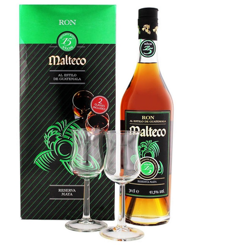 Ron Malteco 15 Year Old Glass Pack Rum