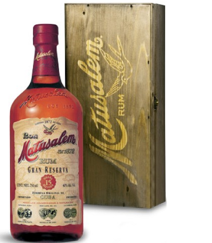 Matusalem Gran Reserva 15 Years Old Wood Box rum 0,7l