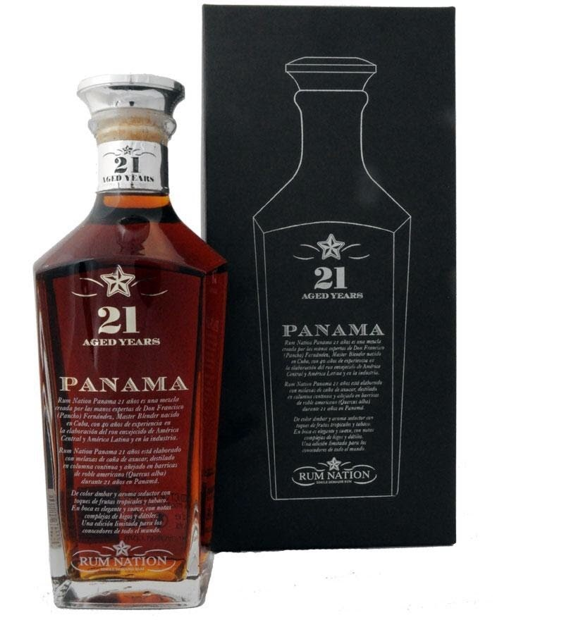 Rum Nation Panama 21 Years Old 0,7