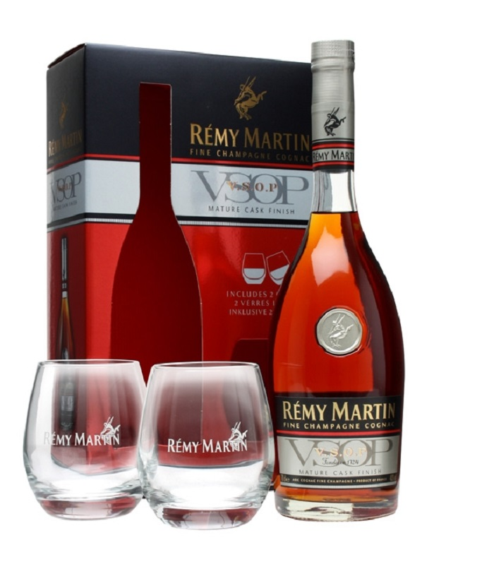 Rémy Martin VSOP Mature Cask Finish Cocnac 2 Glass Pack 0,7