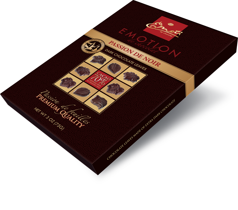 Emoti Passion de Noir Dark Chocolates 70% Cacao 75g.