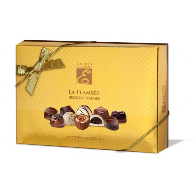 Emoti La Flambee Dark Chocolates Yellow 120g