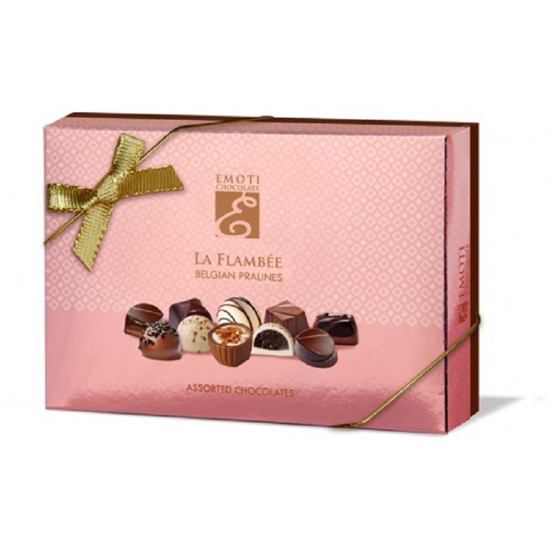 Emoti La Flambee Assorted Chocolates Pink pralines box 120g