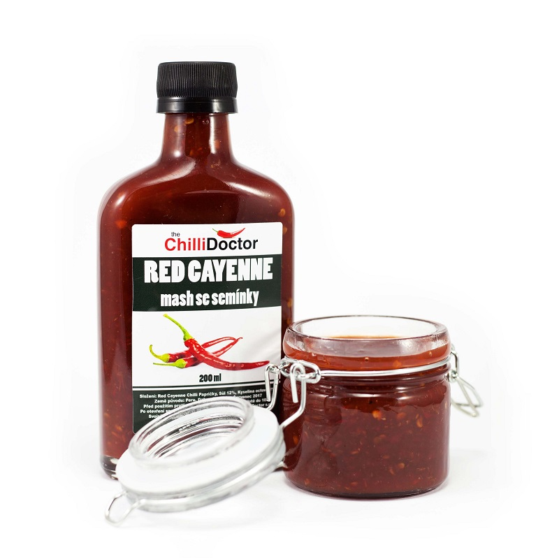 The Chilli Doctor Red Cayenne mash se semínky 200ml
