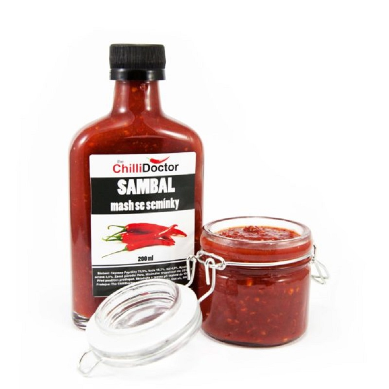 The Chilli Doctor Sambal mash se semínky 200ml