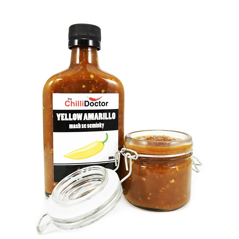 The Chilli Doctor Yellow Amarillo mash se semínky 200ml