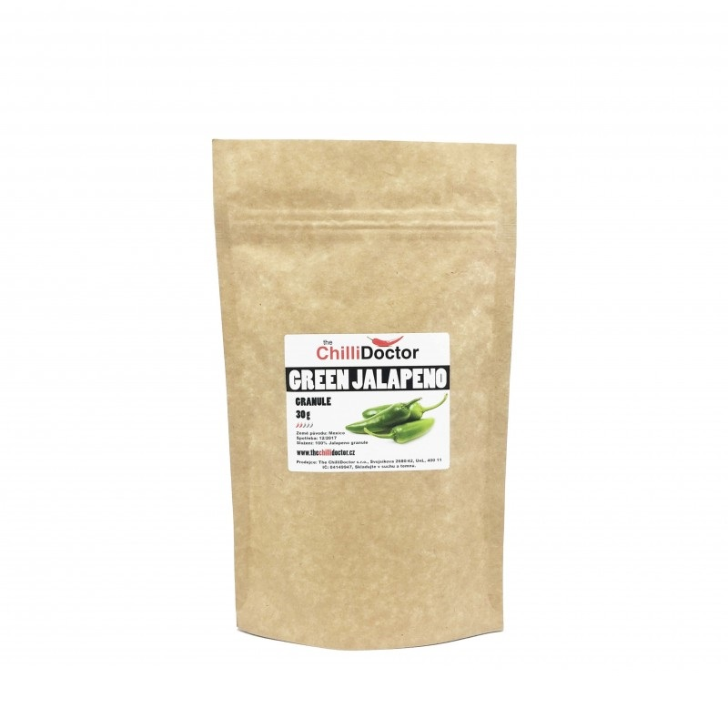 The Chilli Doctor Green Jalapeňo Chilli papričky granule 30g