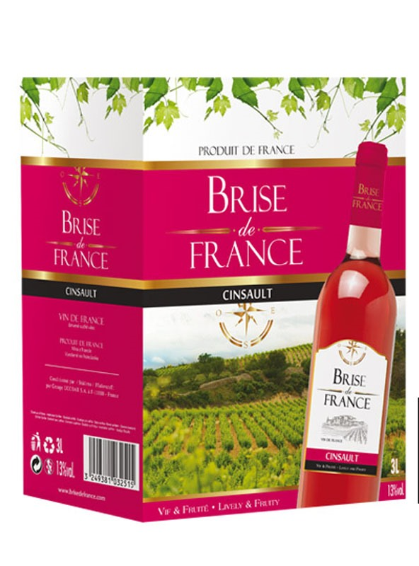 Brise de France Grenache-Syrah rosé, Bag in Box 3L