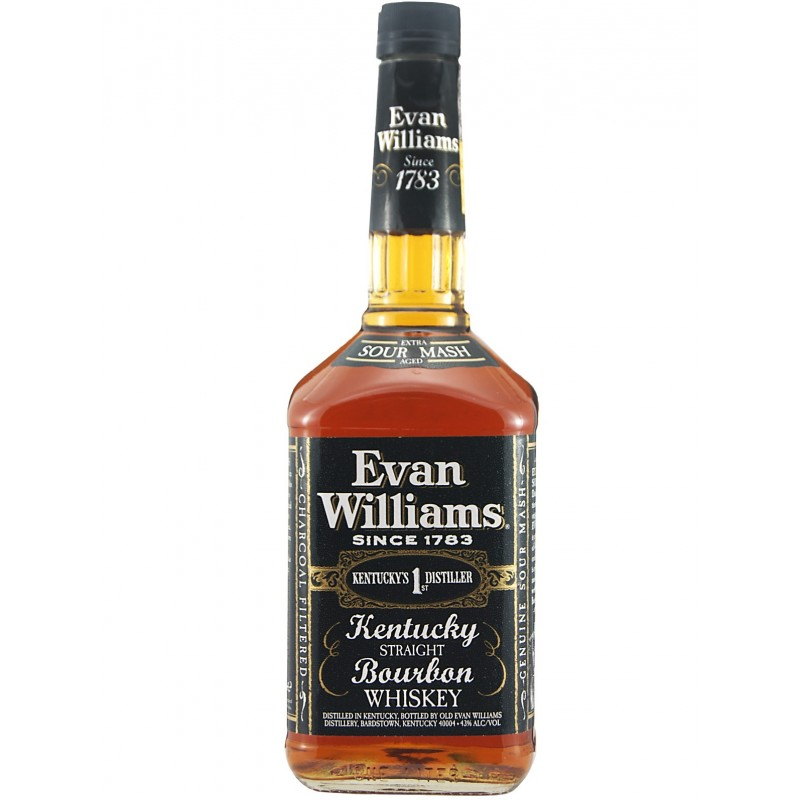 Evan Williams Black 7 yo Kentucky Straight Bourbon Whiskey 1l